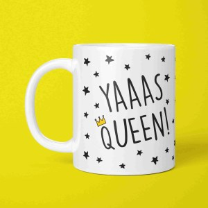 Graduation Gift, Funny Pun Mug, Present for Diva, Yas Queen Mug, Yaaas Queen Mug, TePe Creations, Funny Birthday Gift, Congratulations Gift, Gift for Girl, LGBT Pride Mug, RuPauls Drag Race, Positive Affirmation, Present for Friend