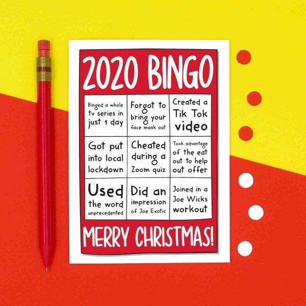 Funny Christmas, TeePee Creations, Confetti Card, 2020 Bingo Joke, Zoom Quiz, Social Distancing, Face Mask Card, Tiger King Card, Eat Out To Help Out, Joe Wicks Workout, Unprecedented Times, Local Lockdown, Tik Tok Dance