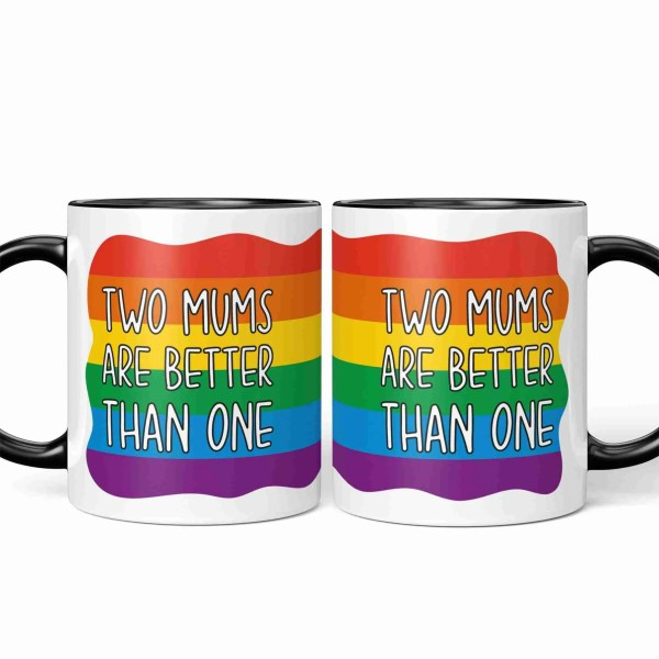 TeePee Creations Mothers Day Gift Gay Mum Present Lesbian Better Double Set Couples Step Present LGBT Pride Flag Rainbow Pattern Homosexual Colourful Stripes