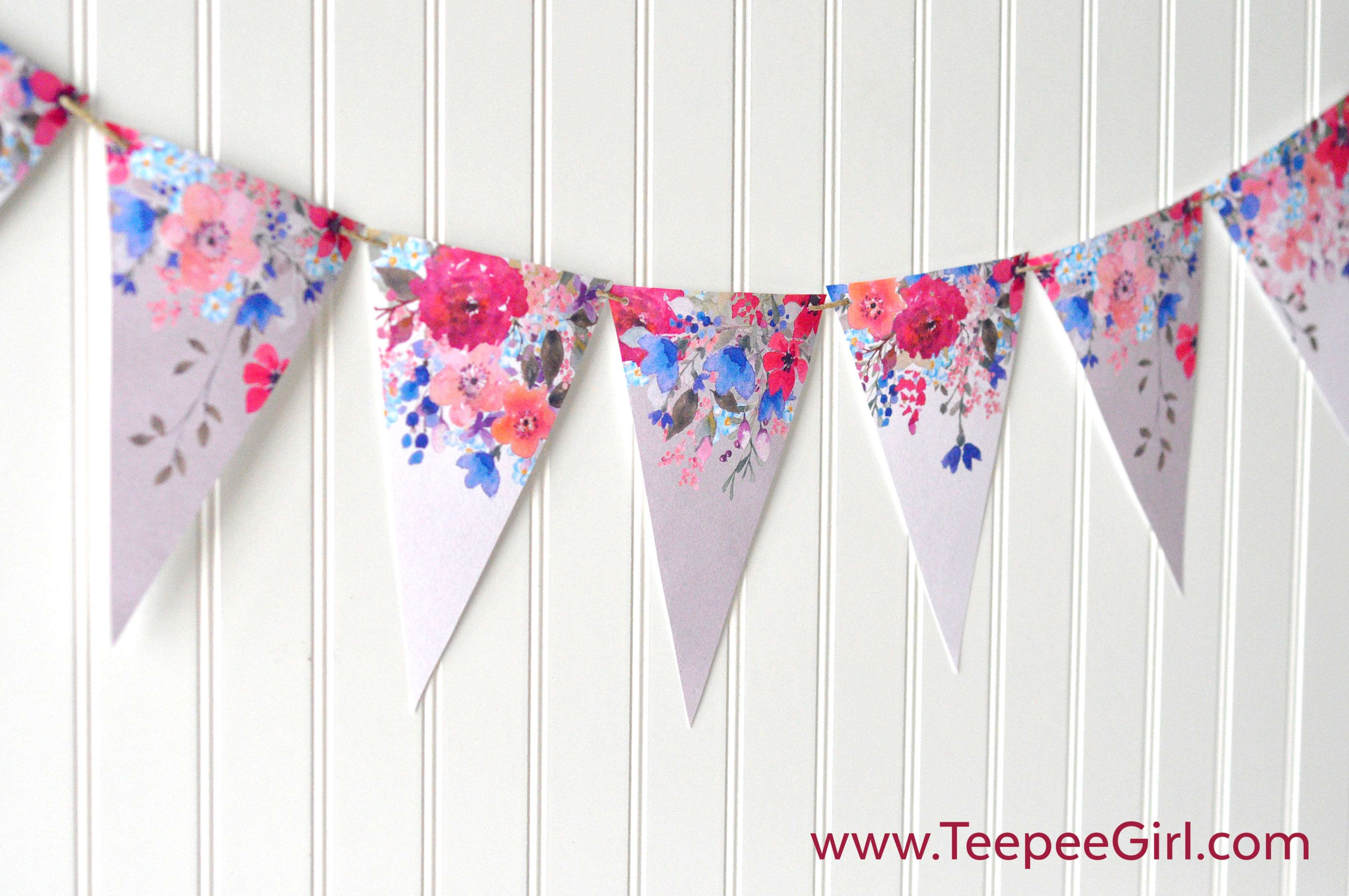 Free Floral Watercolor Banner