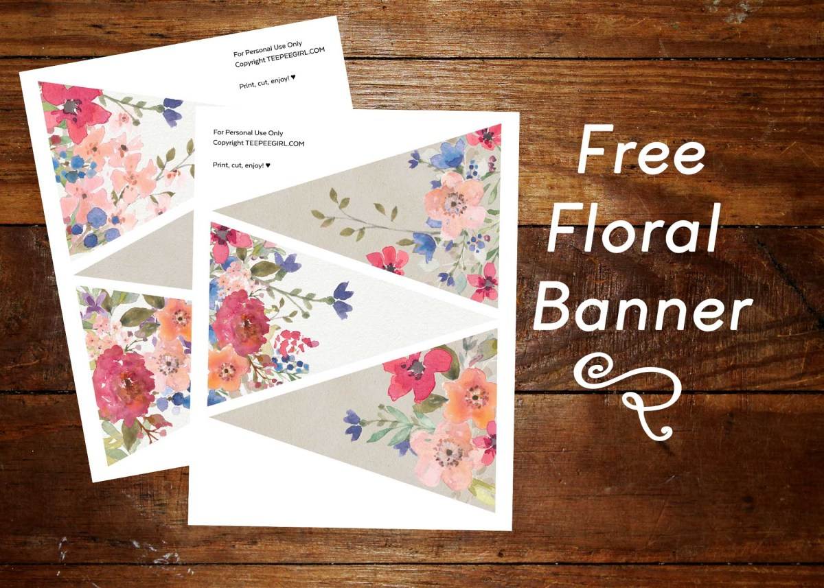 Free Floral Banner