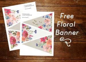 Free Floral Banner