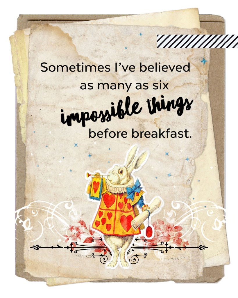Free Alice In Wonderland Quote Print