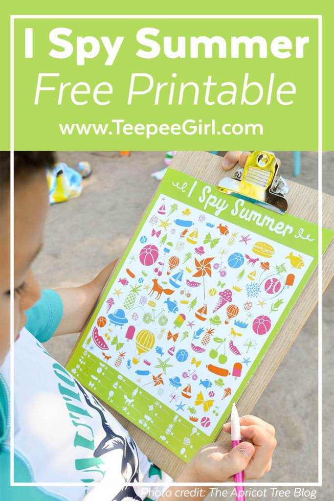 Free I Spy Summer Printable Game from www.TeepeeGirl.com