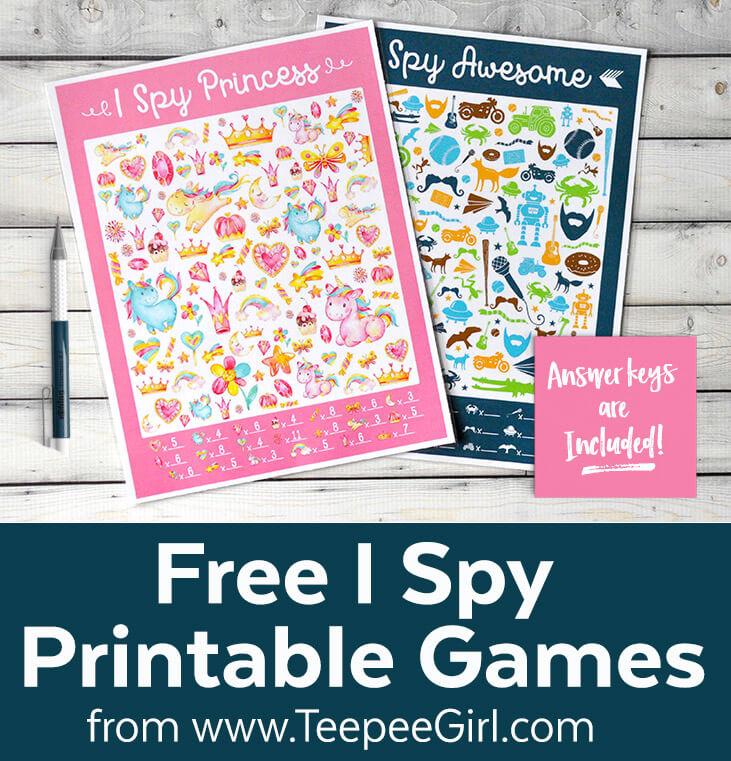I Spy Travel Printable Game - Teepee Girl
