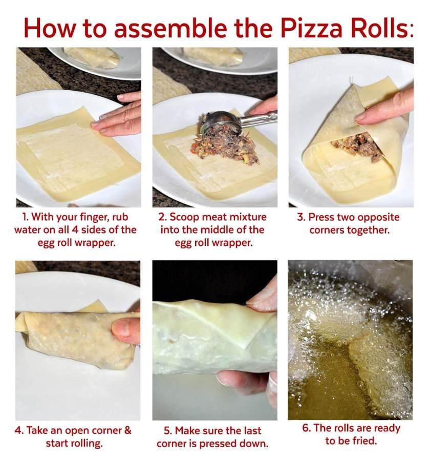 How to assemble pizza rolls www.TeepeeGirl.com