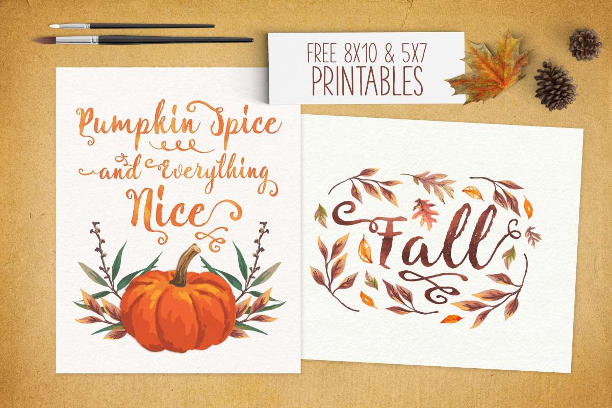Free Fall Printables from www.TeepeeGirl.com