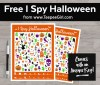 This free I Spy Halloween printable game is the perfect game for your Halloween party or play date. Kids love the bright images and the challenge of searching for the answers. Get yours today at www.TeepeeGirl.com.