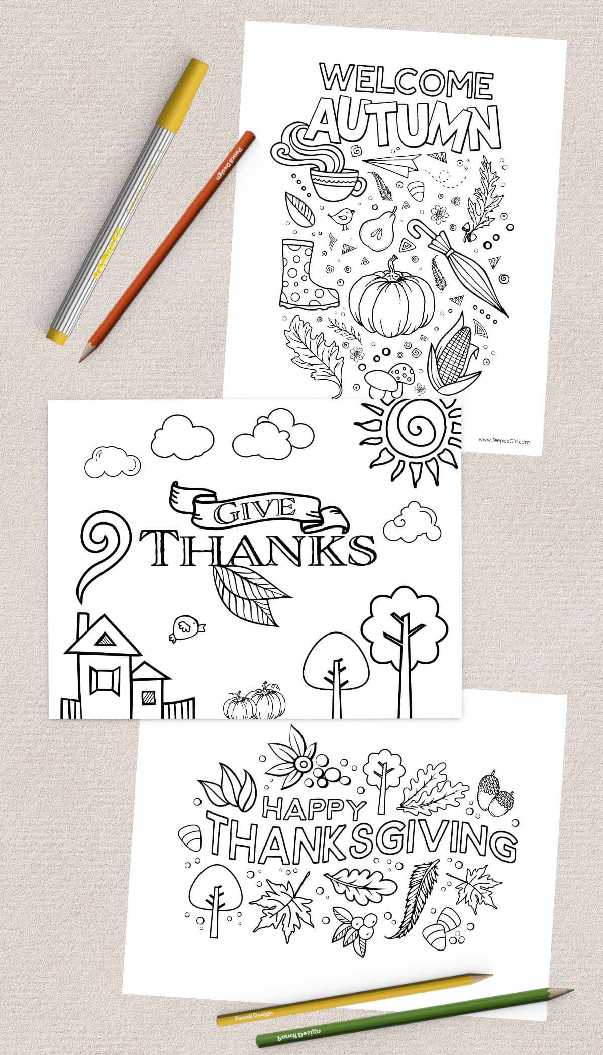 free thanksgiving coloring pages www teepeegirl com