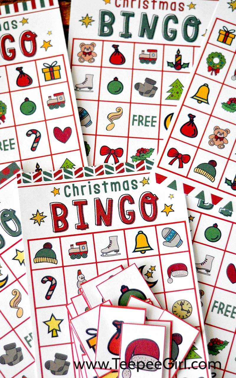 This is a picture of Adaptable Christmas Bingo Free Printable