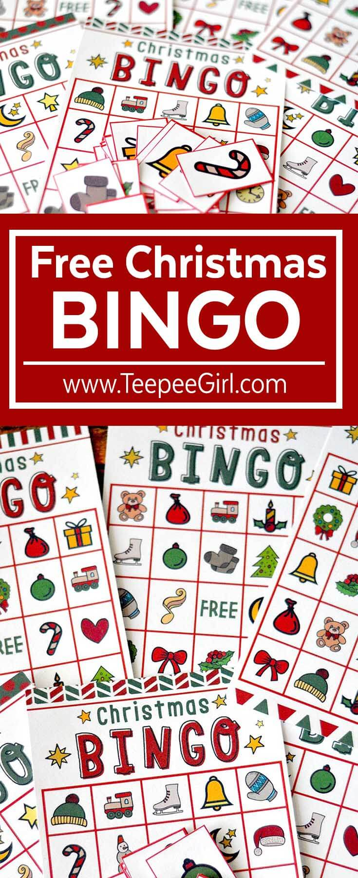 Monster image inside christmas bingo card printable