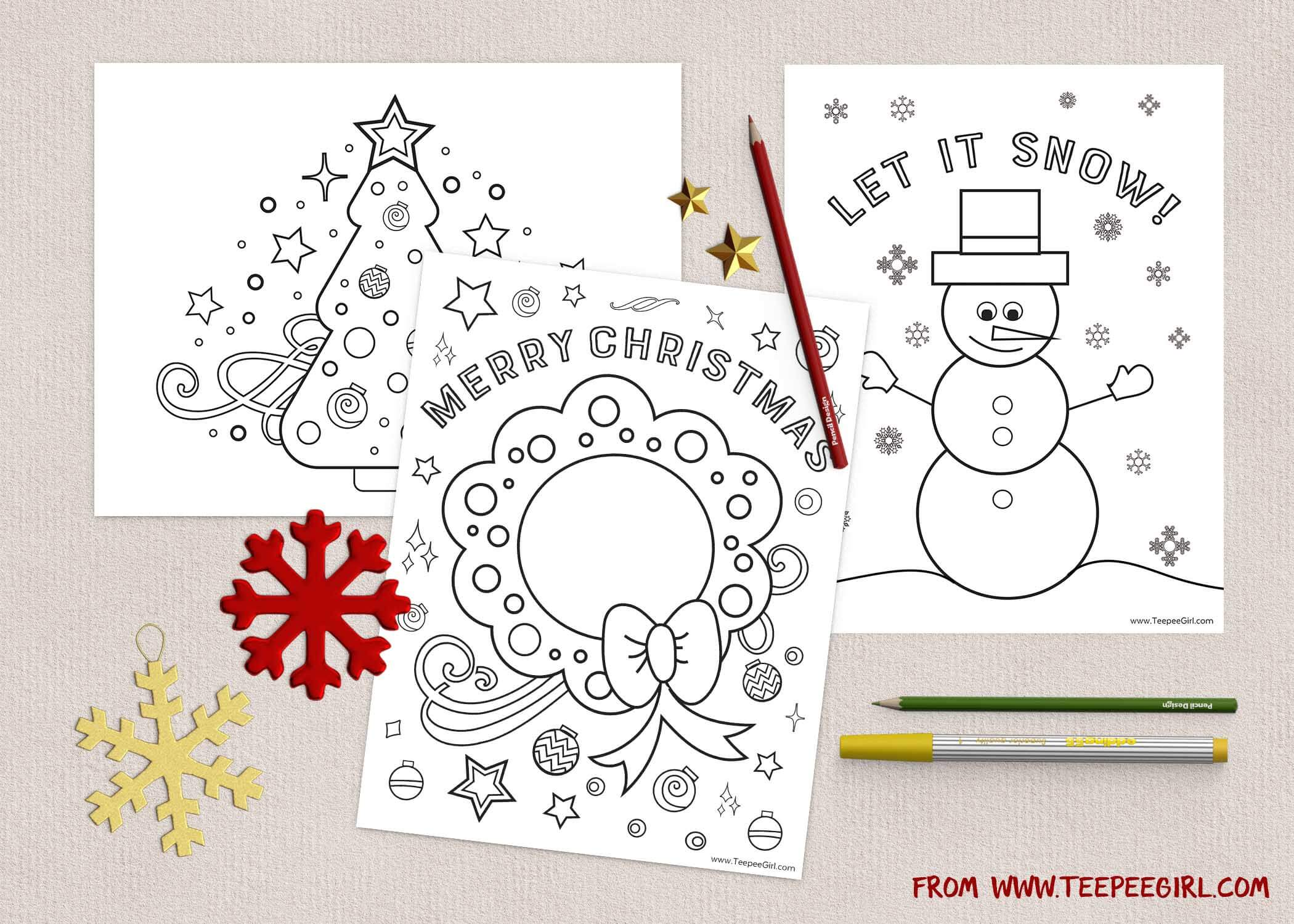 free christmas coloring pages wwwteepeegirlcom