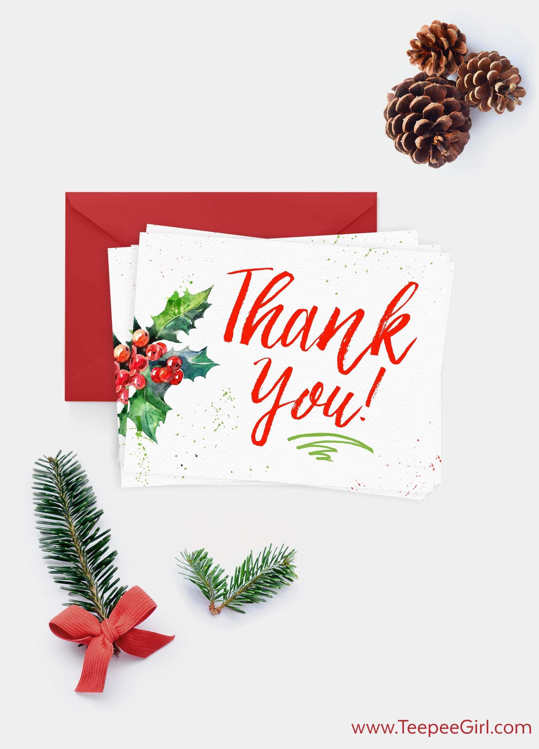 Christmas Thank You Cards #LIGHTtheWORLD www.TeepeeGirl.com