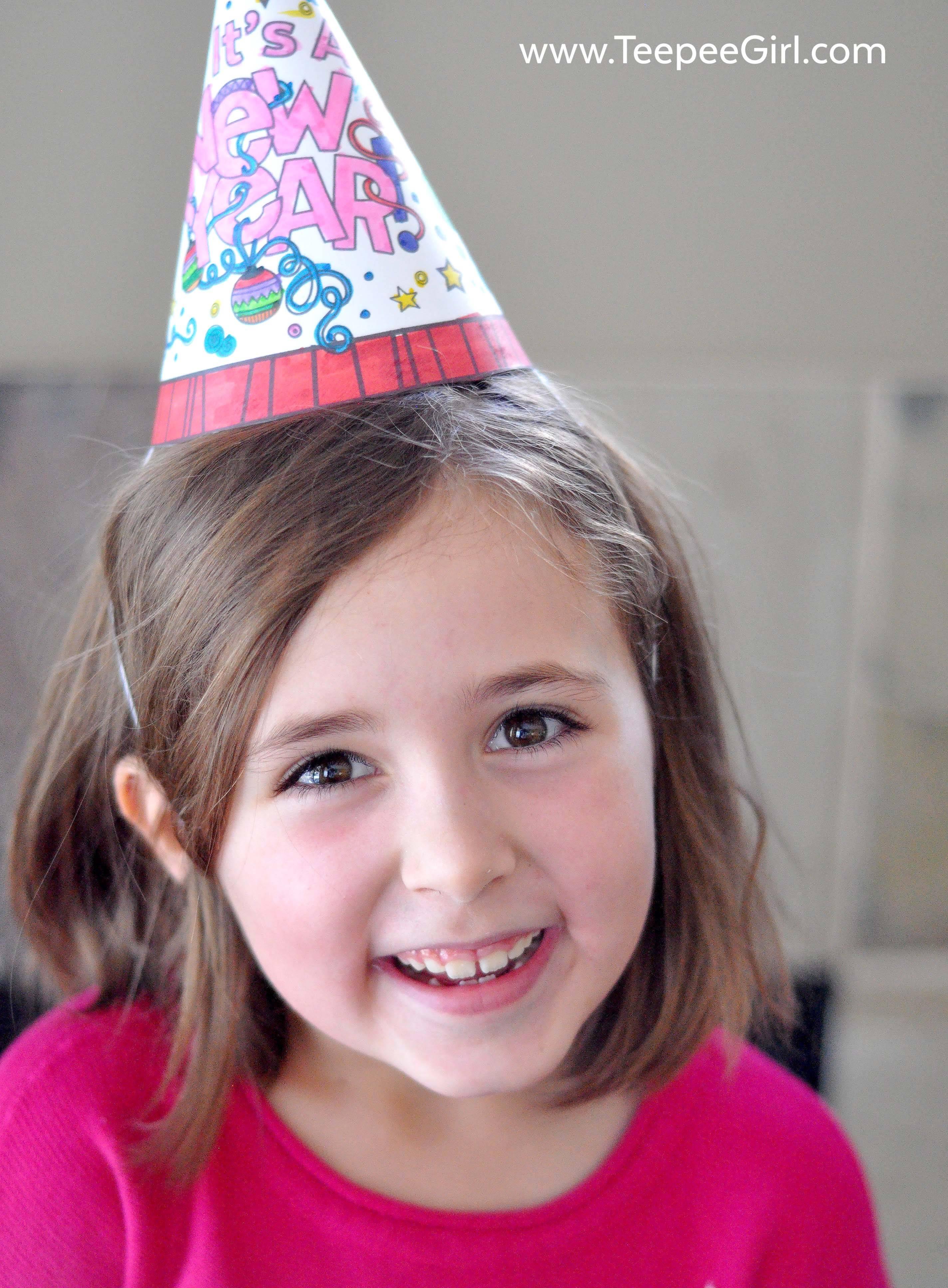 diy new year u0027s hat u0026 horn teepee
