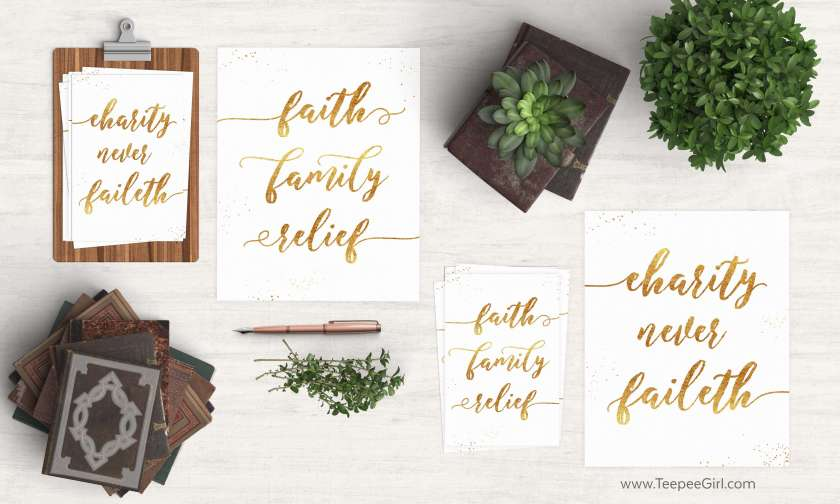 These FREE Relief Society printables are perfect handouts for the January 2017 visiting teaching message, but they are also great for decoration and gifts! Click here or go to www.TeepeeGirl.com to get yours!
