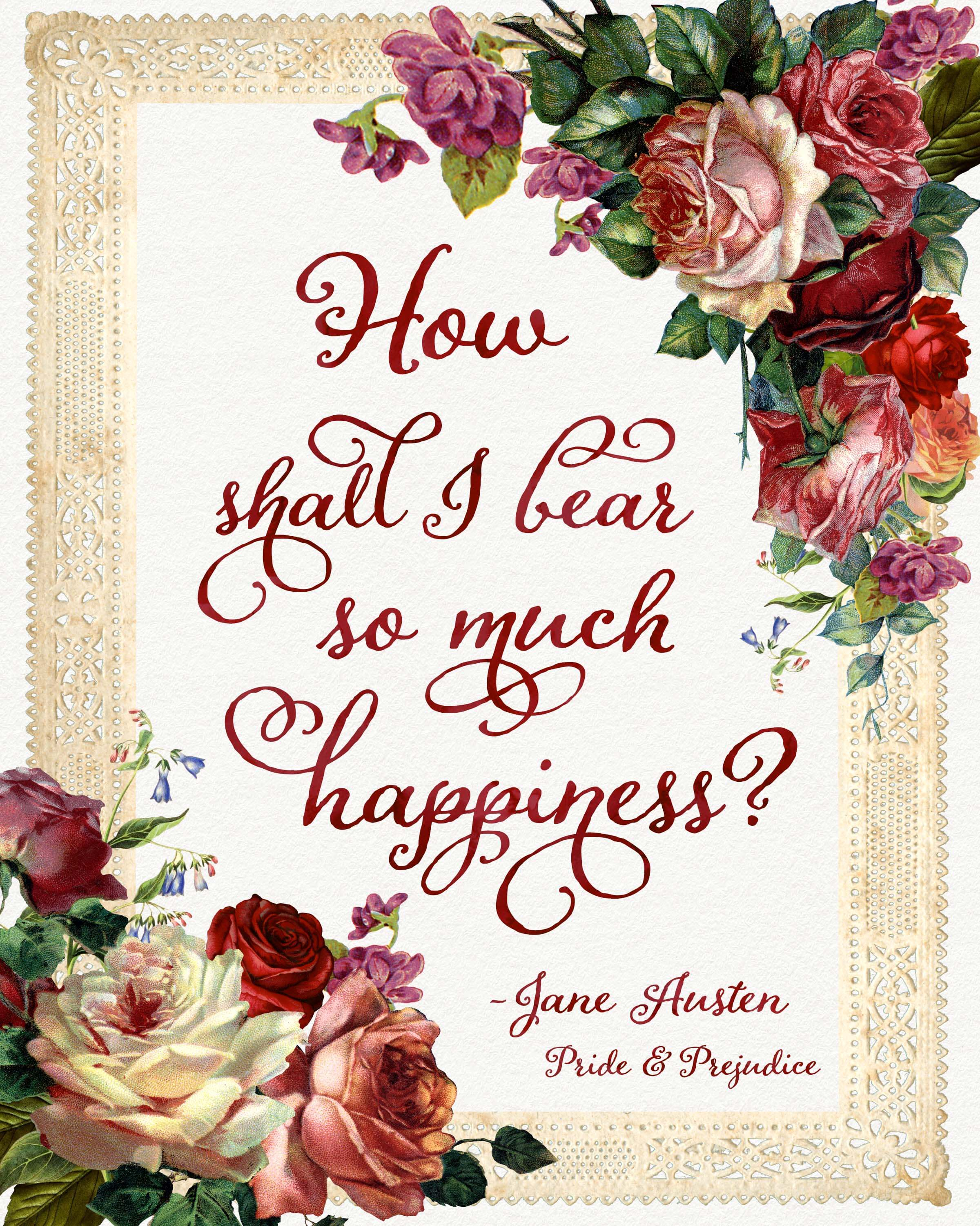 Printable Love Quotes Free Jane Austen Quote Printables