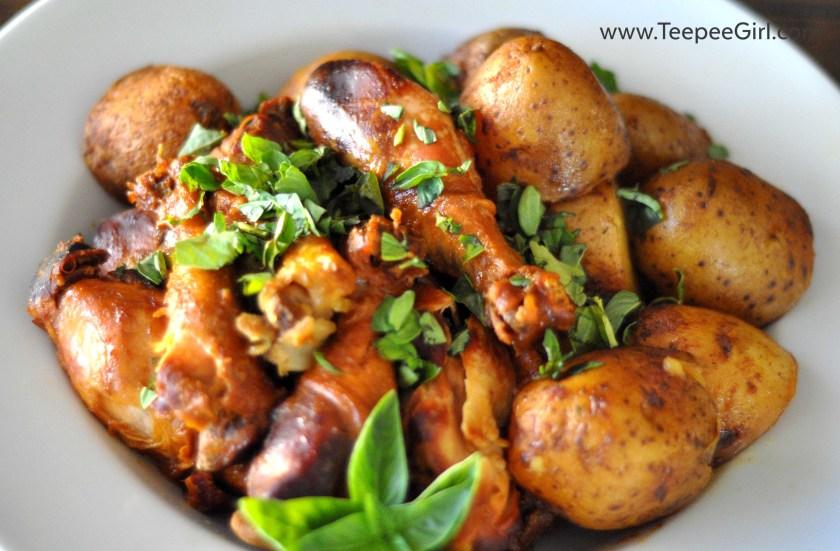 Crockpot Honey Mustard Chicken & Potatoes