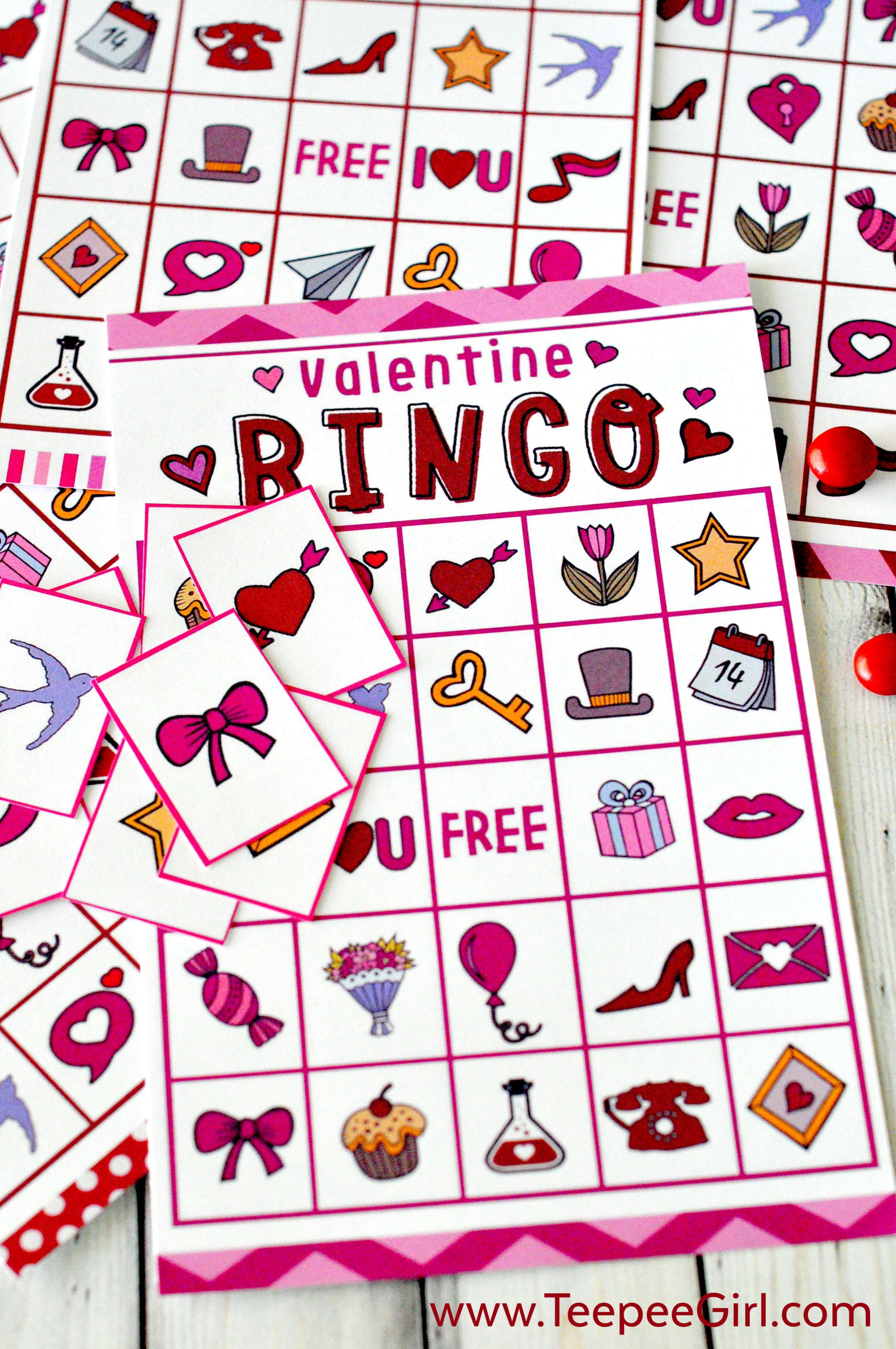 Free Valentines Day Printable Bingo Game – Valentines Day Bingo Cards