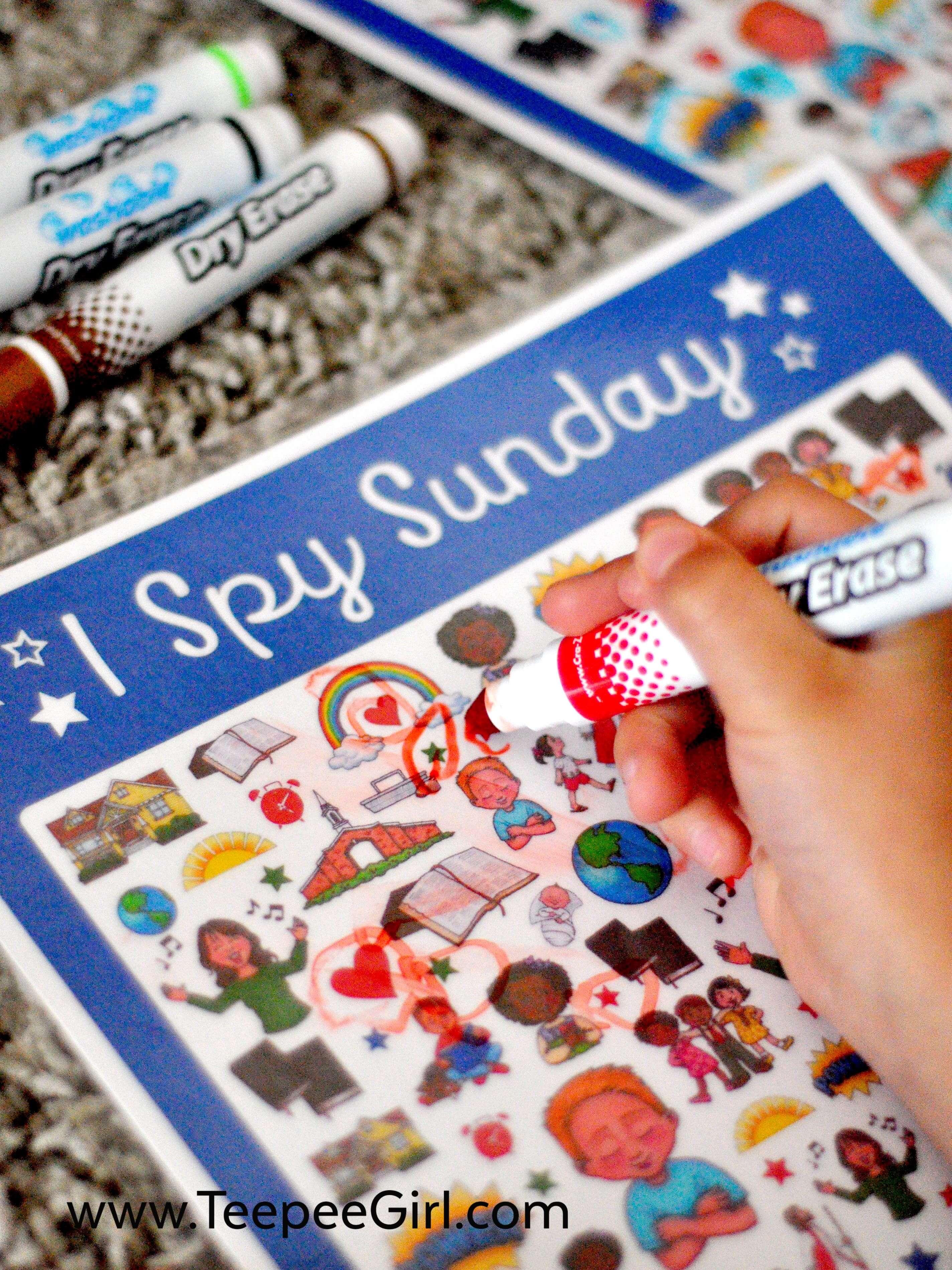 Free I Spy Sunday Printable Game Amp Answer Key