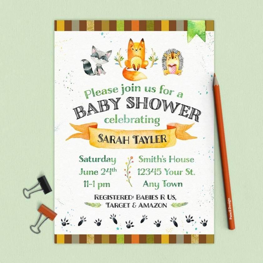 Custom Baby Shower Invitation and Baby Shower Kit from www.TeepeeGirl.com