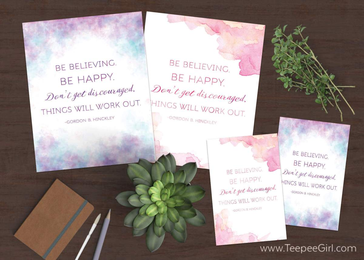 These quote printables from President Gordon B. Hinckley are perfect for Relief Society lessons, handouts, visiting teaching, and home decor! Get it today at www.TeepeeGirl.com!