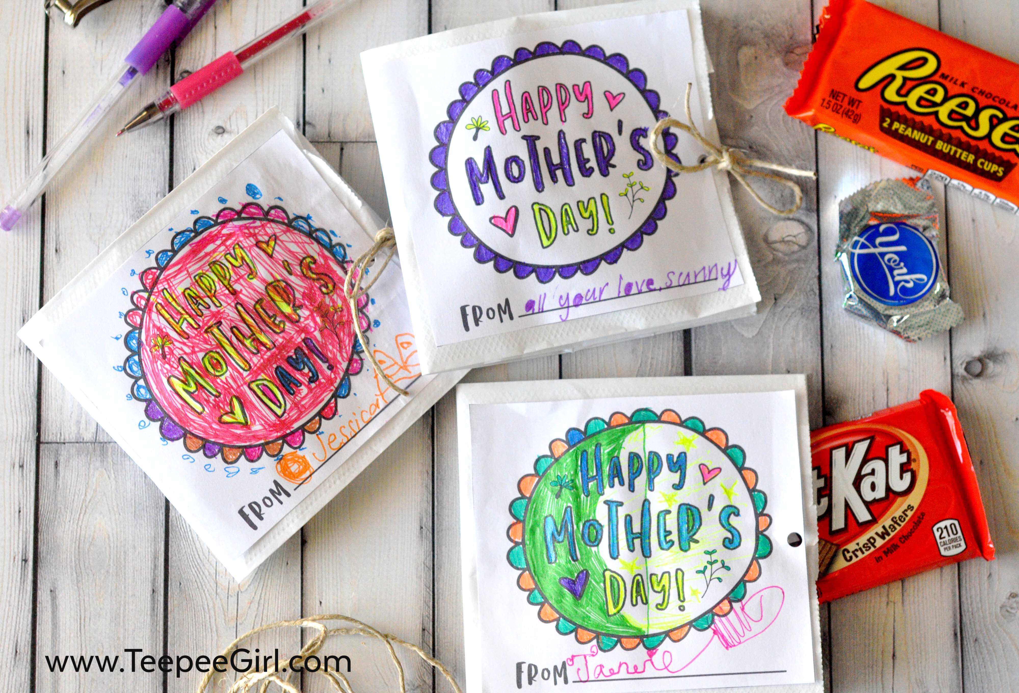 Paper Sack Mother's Day Card and Gift