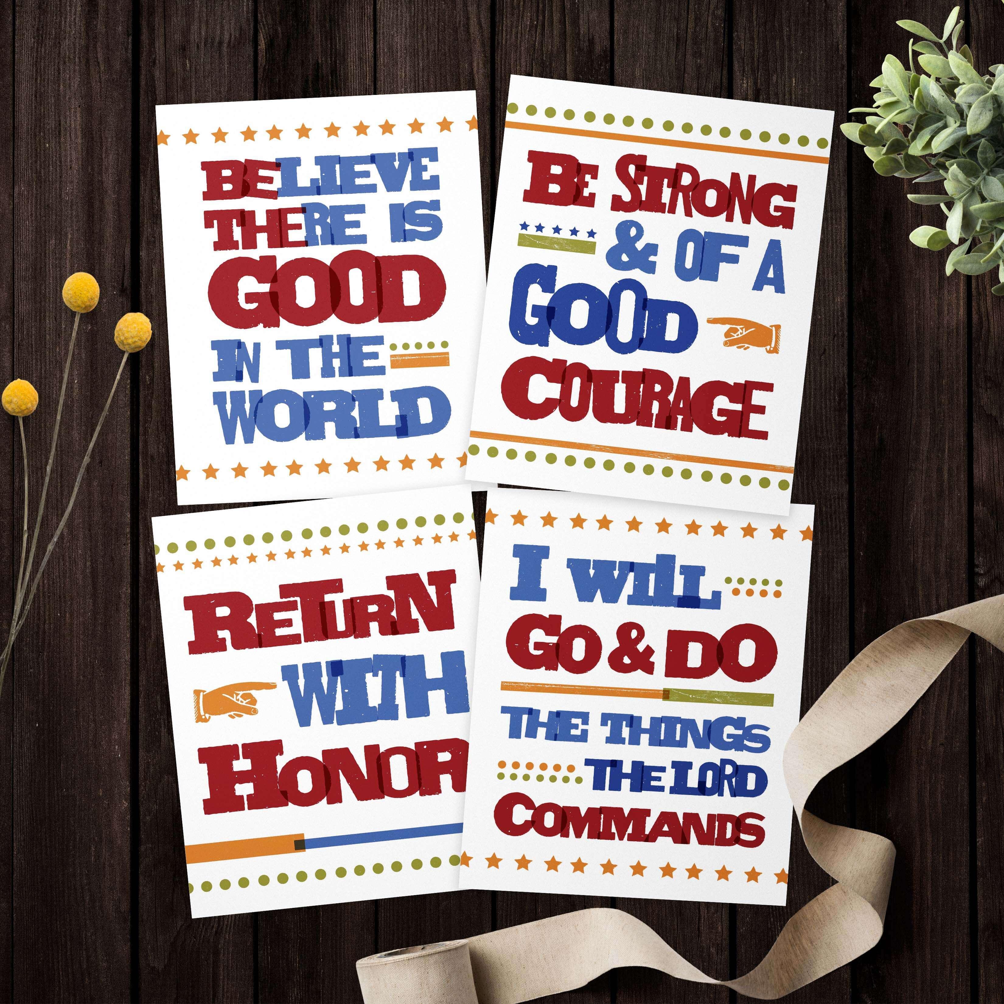 Return With Honor Free Printable