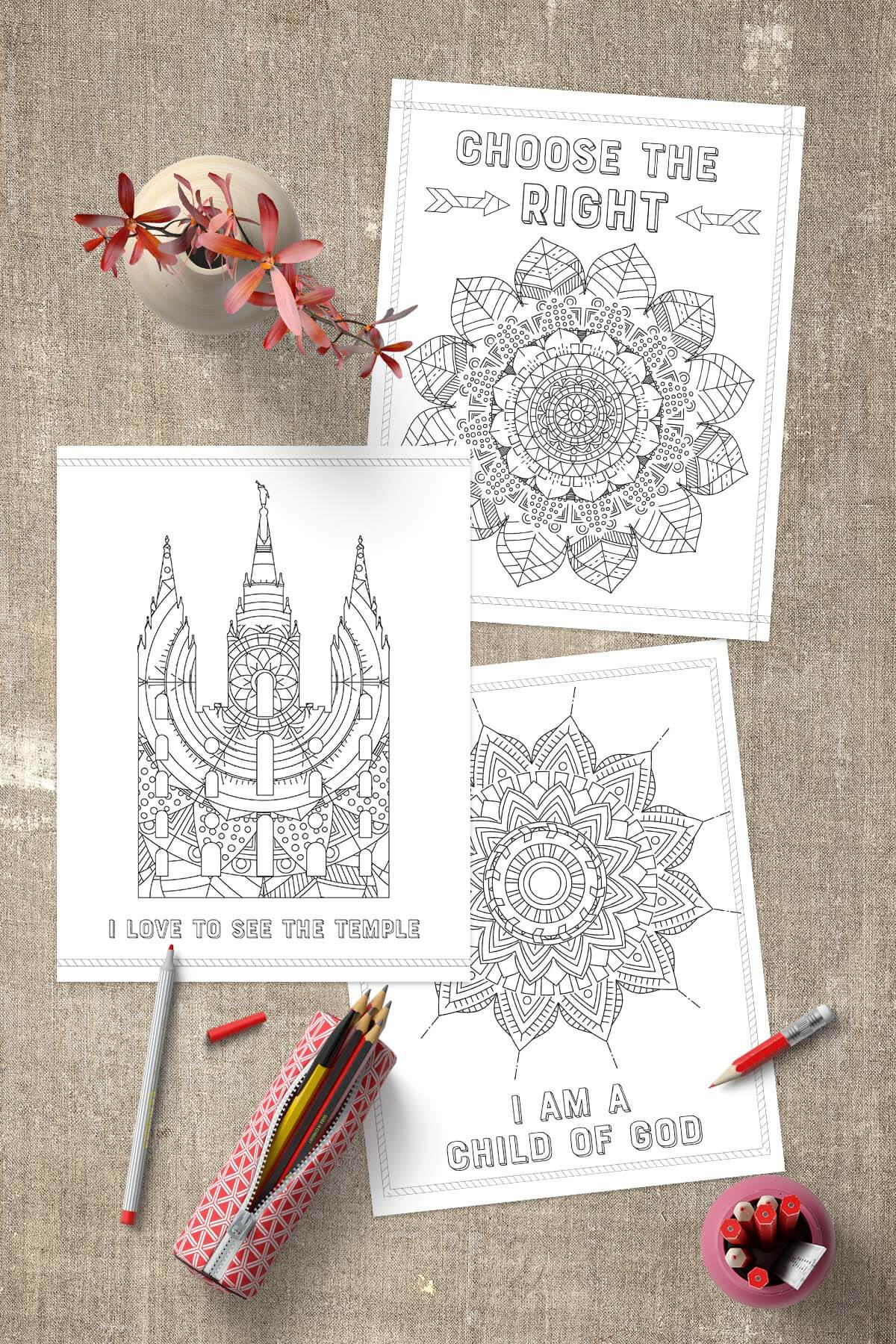 Free LDS Coloring Pages wwwTeepeeGirl