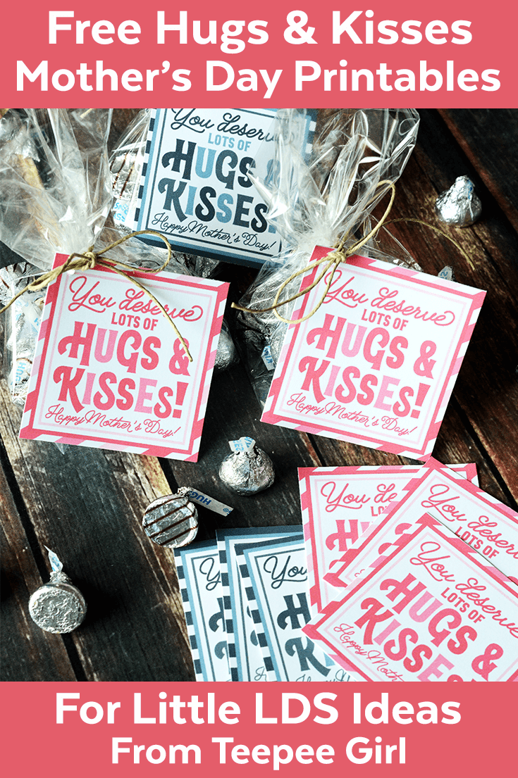 Mother\'s Day Hugs Kisses Printable from Little LDS Ideas