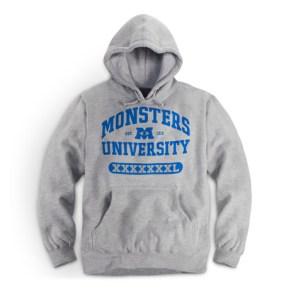 Monsters University Grey Hoodie