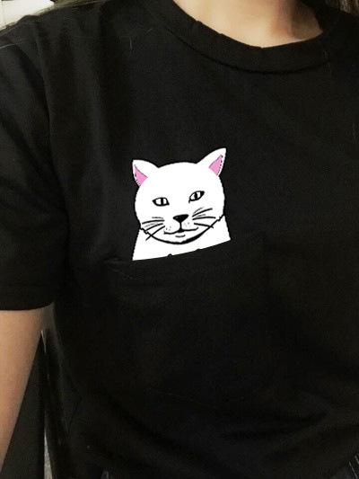 2018-Summer-T-shirt-Women-Casual-Lady-Top-Tees-Cotton-Tshirt-Female-Brand-Clothing-T-Shirt_da mao hei 5