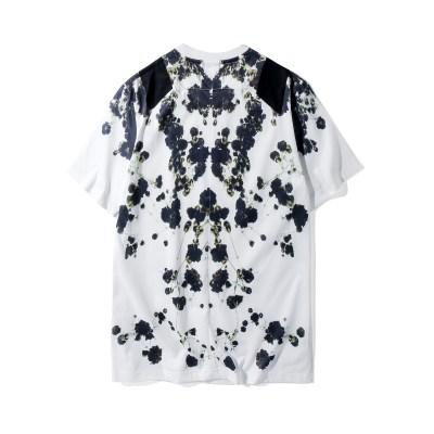 New-2018-Summer-floral-print-T-shirt-sex-couples-dress-size-coat-loose-European-Street_Beige