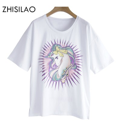 ZHISILAO-Unicorn-T-shirt-Women-t-shirt-Summer-White-Cotton-Tee-Shirt-Plus-Size-Women-tops_1
