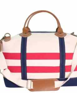 Nautical Striped Weekender