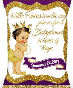 Personalized Purple Royal Princess Chip Bag