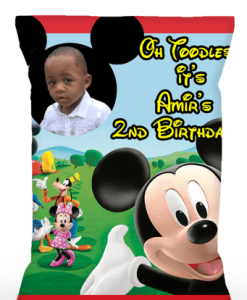 Personalized Mickey Mouse Chip Bags