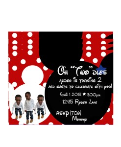Printed Mickey Mouse Invitation