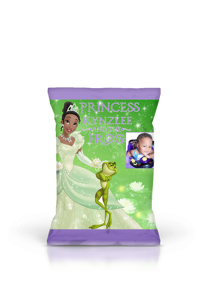 image relating to Printable Chip Bags known as Princess and Frog Chip Bag Printable, Princess and Frog Social gathering