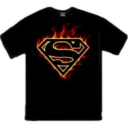 Flames Superman Logo