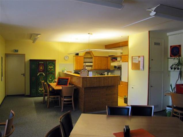 Blick auf die Küche vom Eingang aus