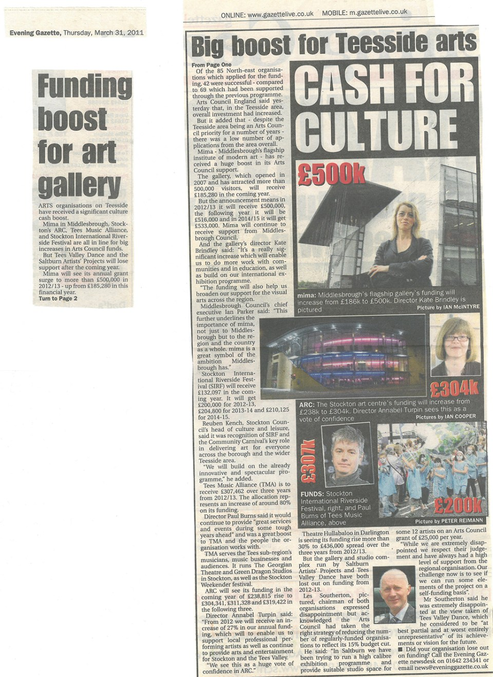 2011-03-31, Evening Gazette