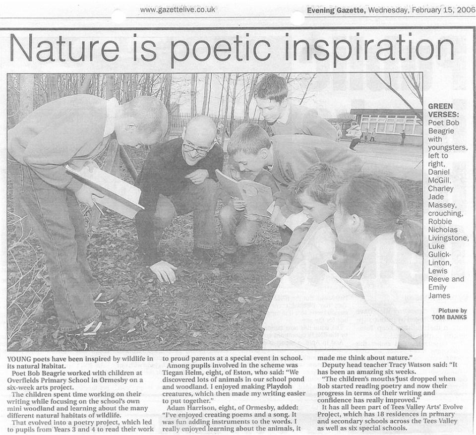 2006-02-15, Evening Gazette, Nature is poetic inspiration
