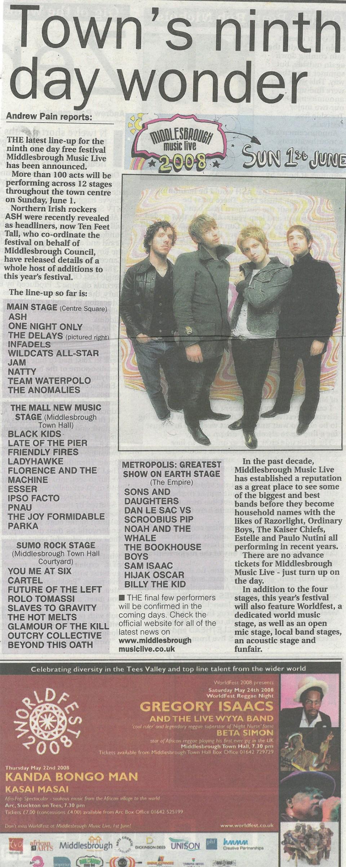 2008-05-02, Evening Gazette