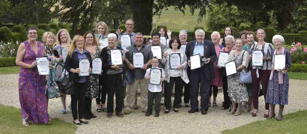 Winners of volunteering awards from the Redcar and Cleveland Voluntary Development Awards 2019