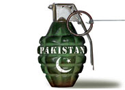Pakistan at risk grenade