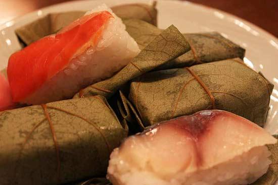 Yoshino Kakinoha sushi - Spezialität aus Yoshino und Nara