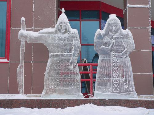 Eisfiguren in Jakutsk - Sibirien