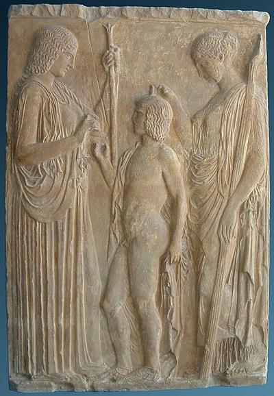 Demeter_Trioptolemos und Persephone