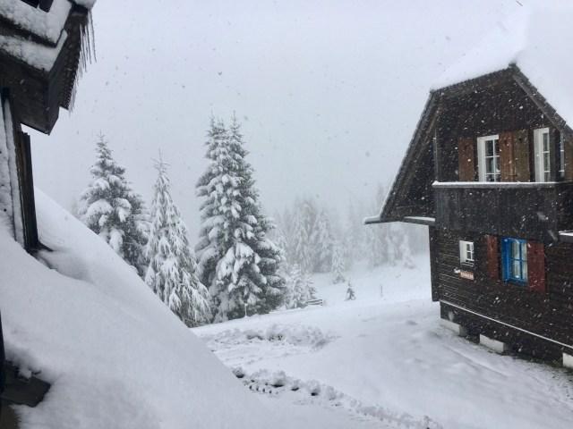 Schnee am Feuerberg