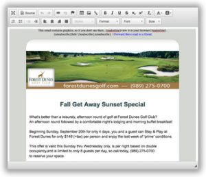 golf course email marketing